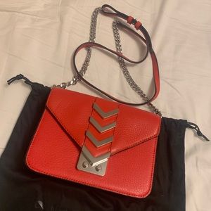 Sold❌Mackage Zed Flame Red Leather Crossbody Bag